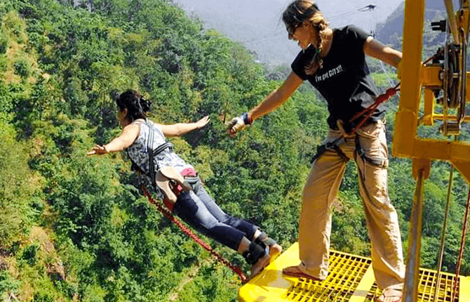 Bunjee Jumping in Rishikesh